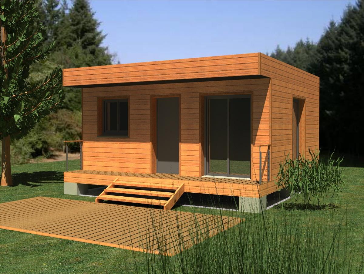 Agrandissement bois toit plat de11 humatraffin for Agrandissement maison en kit